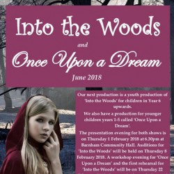 Once Upon a Dream and Into the Woods Jr