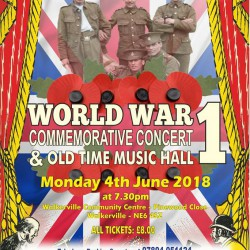 World War 1 Commemorative concert and Old Time Music Hall