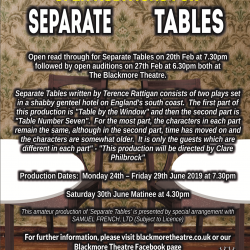 "Open Auditions for ""Separate Tables"""